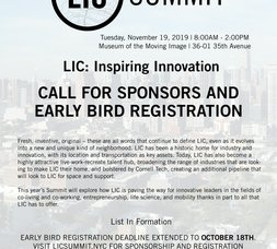 LICP News: LIC Summit Save the Date, LIC BID Annual Meeting, Recovered Landscapes: Newtown Creek Exhibtion, We Play With Spirits at TEN10 Studios and 2019 Open House New York Weekend!