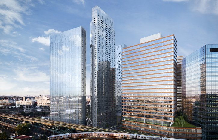 A rendering of the office-retail complex in Long Island City being developed by Tishman Speyer. Photo: Tishman Speyer