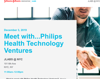 JLabs - Meet with Philips Health Technology Ventures