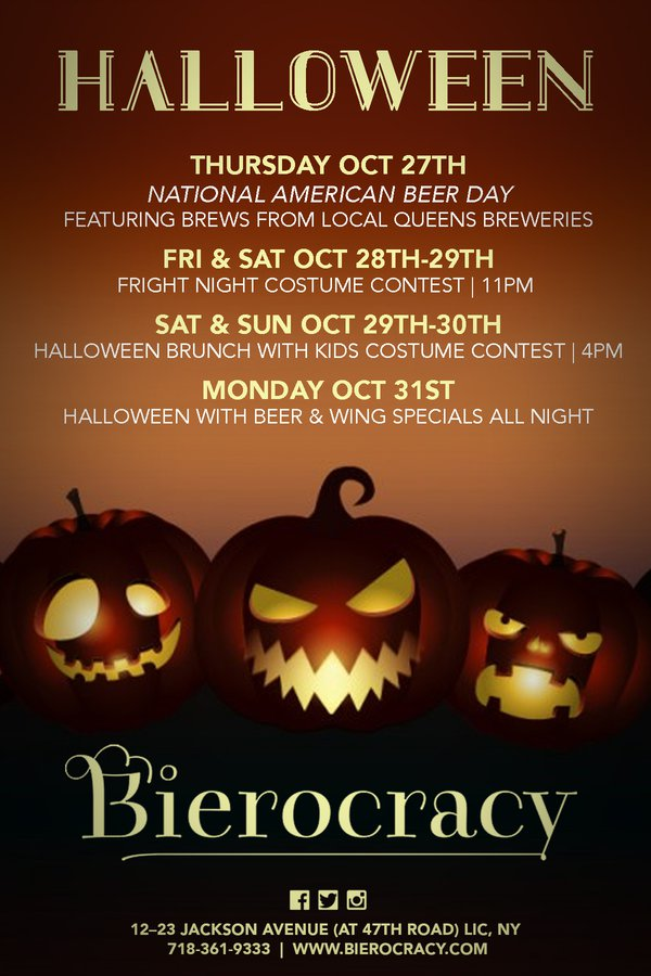 Halloween Bier.Halloween Weekend Bierocracy Events Long Island City