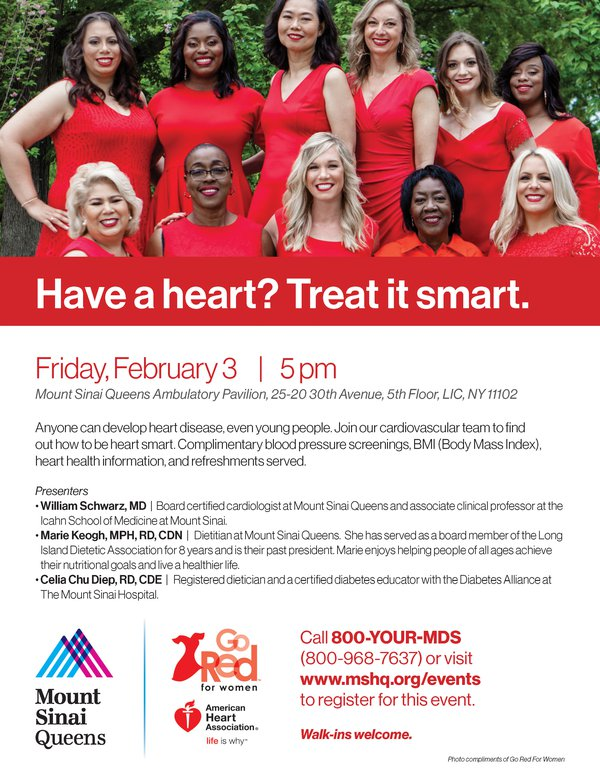 Go Red for Women at Mount Sinai Queens : Events | Long